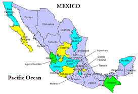 map central mexico map of mexico showing states major tourist attractions maps