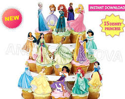 221 best clipart snow white princess cupcake toppers cinderella belle aurora elsa