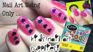 doing my nails using only kids nail art supplies unboxing and