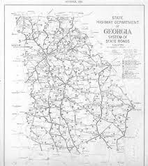 Georgia State Map by Maps 1929 Georgia Map Georgiainfo