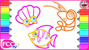 pages to color animals coloring sea animals 1 how to draw prawn pearl sea fish