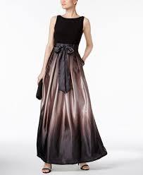 sl fashions ombré satin bow sash gown dresses women macy u0027s