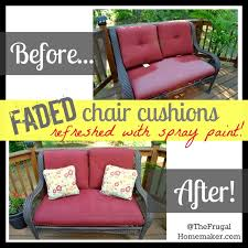 Chair Cushions For Outdoor Furniture by Faded Chair Cushions Refreshed With Spray Paint