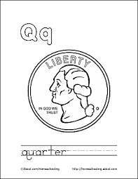 coloring pages quarter letter q coloring book free printable pages
