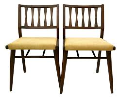 holman danish modern dining room chairs pair danish modern