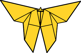 clipart origami butterfly