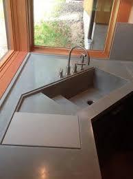 corner kitchen sinks large concrete corner kitchen sink w sliding cutting board