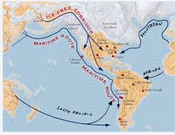 Ice Age Map North America by Early Human Migration Into South America Misfitsandheroes