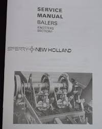 New Holland Twine Knotter Small Square Hay Baler Service Manual