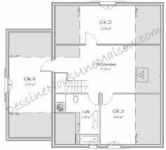 plan maison une chambre plan etage chambres creatif plan maison etage 4 chambres