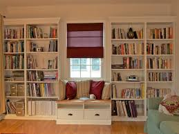 Living Room  Custom Large Family Room White Bookcase Design - Decorating a large family room