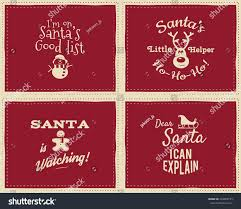 set unique christmas funny signs quotes stock vector 334902155