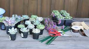 succulent bouquet how to make a succulent wedding bouquet