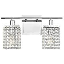 2 light crystal bathroom vanity light 2275 26 destination lighting