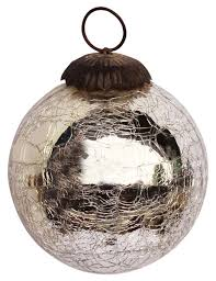 ornament hand blown christmas tree decoration ball u2013 silver tone