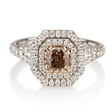brown diamond engagement ring fancy pink brown diamond radiant 0 60 carat naturally colored