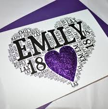 personalised 18th birthday sparkle card by sew