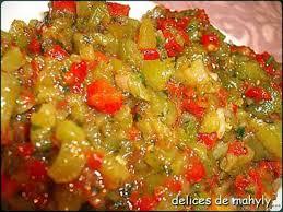 cuisiner poivrons verts recette de poivrons grillés en salade marocaine