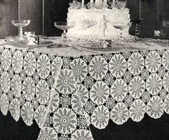 Crochet Table Cloth 86 Best Crocheted Tablecloth Patterns Images On Pinterest