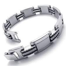 mens bracelet stainless steel rubber images Cheap mens black rubber bracelet find mens black rubber bracelet jpg