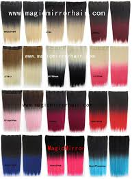 dip dye ombre hair clip in on straight synthetic color shade