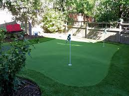 Artificial Backyard Putting Green by Synthetic Turf Supplier Mortmar California Putting Green