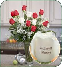 In Loving Memory Vase 12 Roses In Loving Memory 9 Red 3 White From Simply Something