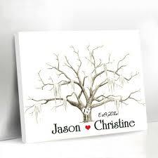 tree guest book casamento wedding fingerprint tree guest book canvas printing