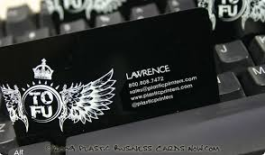 Plastic Business Card Printing Plastic Business Cards Clear Frosted And Metallic Available