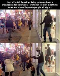 Japan Memes - japanese mannequin halloween prank funny meme funny memes