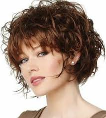 Kurzhaarfrisuren Farbe by Algue Kurze Braun Weiblich Curly Look Shaggy Frauen