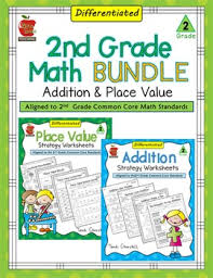 2nd grade differentiated math worksheets bundle by bite size teaching