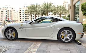 Ferrari California White With Red Interior - rent ferrari california white dubai uae
