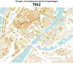 Copenhagen Map Expansion Of The Pedestrian Only Areas In Copenhagen Gif