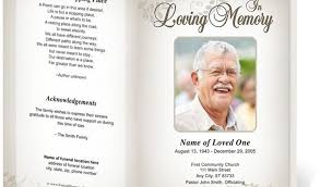 template for memorial service program memorial service program template equipped photo funeral brochures