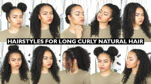 haircuts for girls with long curly hair 7 easy everyday hairstyles for long natural curly hair youtube