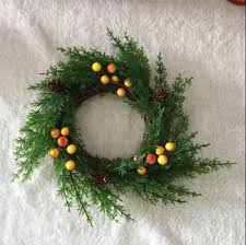 popular country door decor buy cheap country door decor lots from 1pc american country 25cm pine and cypress branches natural christmas door wreath garland candles home decoration