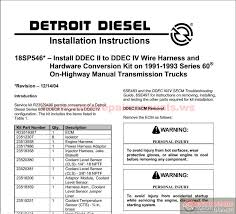 detroit diesel ddec ii to iii iv conversion auto repair manual