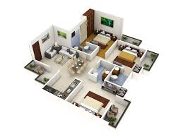 One Bedroom Open Floor Plans by 3d One Bedroom Small House Floor Plans For Single Man Or Woman Are