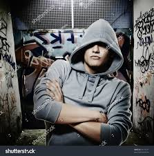 Cool Stock by Cool Looking Hooligan Graffiti Painted Gateway Stock Photo