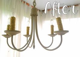 Painted Chandelier Chalk Painted Chandelier With Roping Accents Stylemutt Home