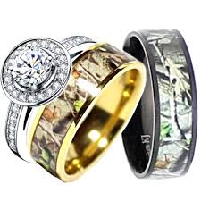 camo wedding rings his and hers gold camo wedding rings his hers camouflage real forest oak camo