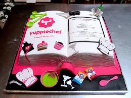 Cake Decorating Books Online 3d Yuppiechef Themed Recipe Book Shaped Wicked Chocolate Cake
