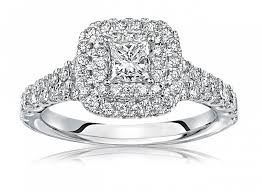 double engagement rings images Delaney princess cut double diamond halo engagement ring in 14k png