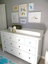 White Dresser And Changing Table Modern And Whimsical Boy S Nursery Ikea Dresser Dresser And