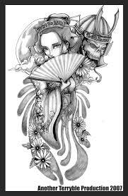 geisha lapiz tattoo design photos pictures and sketches