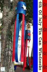 4th of july tin can windsock kids craft upcycle craft