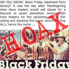 was black friday named after the trade thatsnonsense