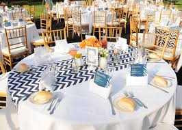 Table Runners For Round Tables Navy Striped Table Runner With Navy Napkins For Wedding Google