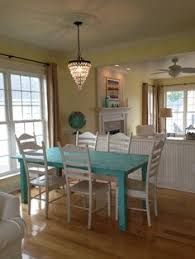 Tiffany Blue Dining Table TIFFANY BLUE DISTRESSED DINING TABLE - Distressed kitchen table